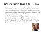 general social bias gsb class