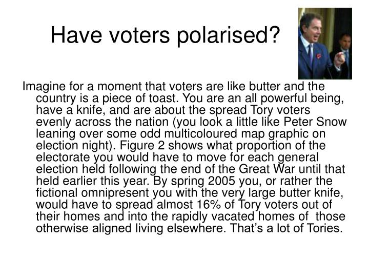 Have voters polarised?