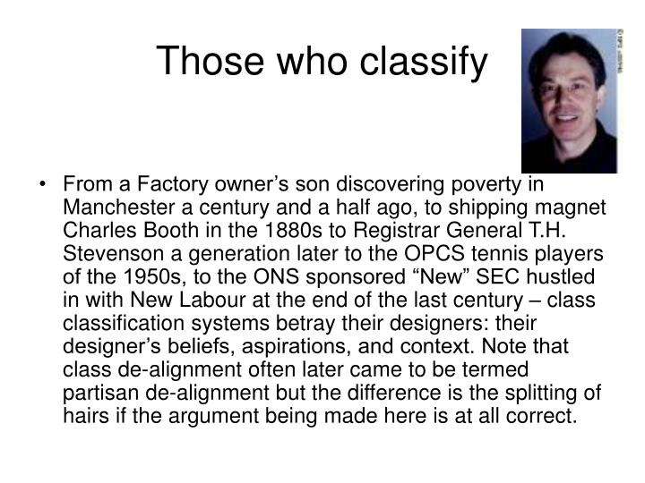 Those who classify
