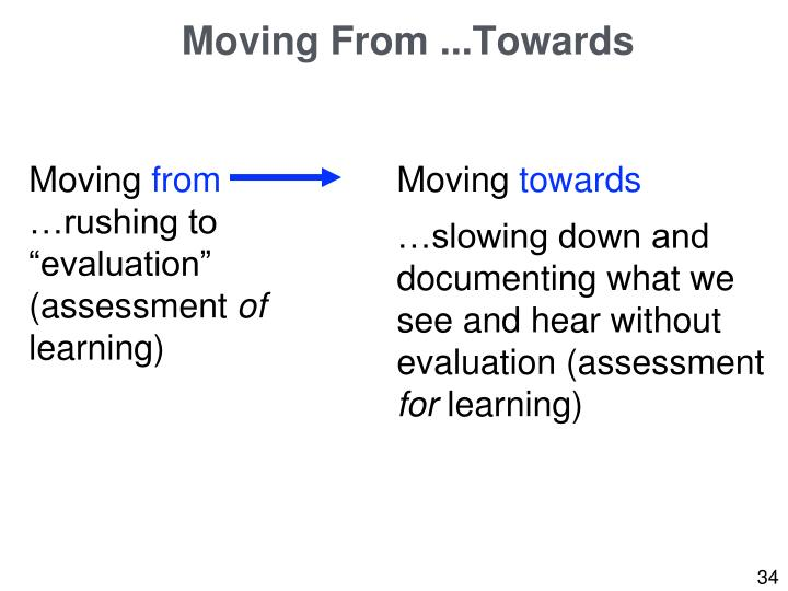 Moving From ...Towards