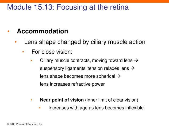 Module 15.13: Focusing at the retina