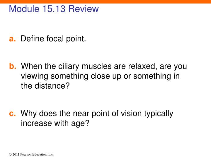 Module 15.13 Review