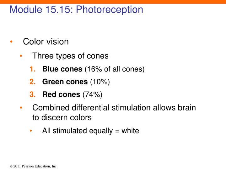 Module 15.15: Photoreception