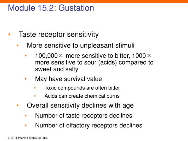 Module 15.2: Gustation