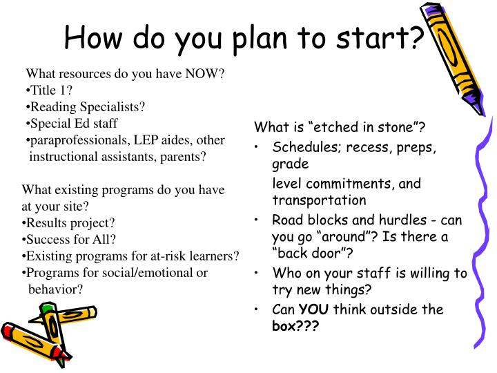 How do you plan to start?