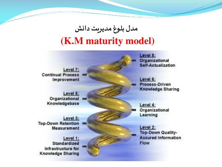 مدل بلوغ مدیریت دانش