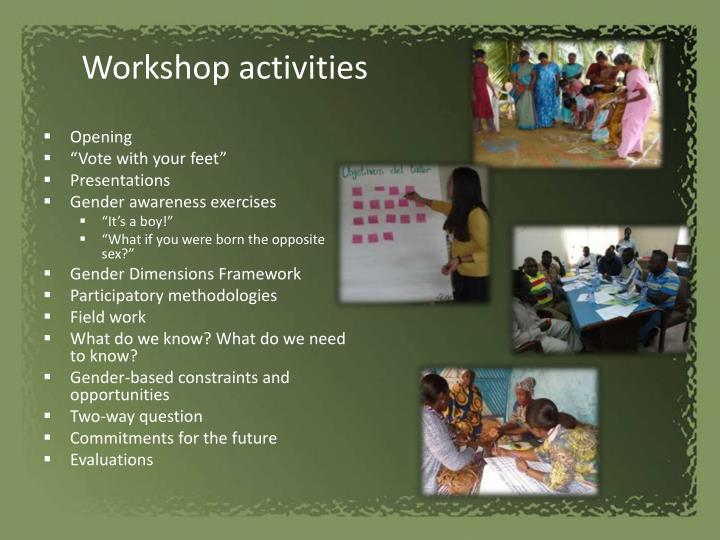 Workshop activities