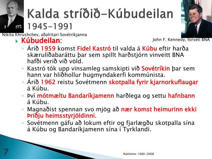Kalda stríðið-Kúbudeilan