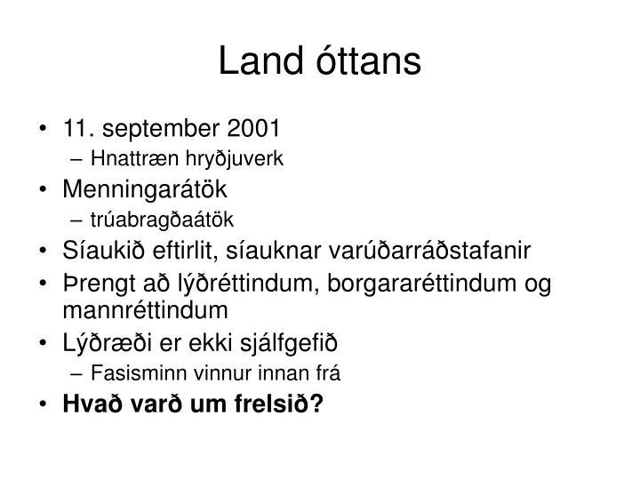 Land óttans