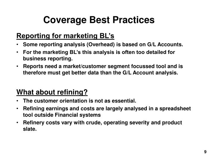 Coverage Best Practices