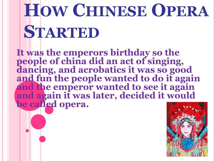 How chinese opera started