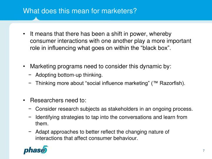 What does this mean for marketers?