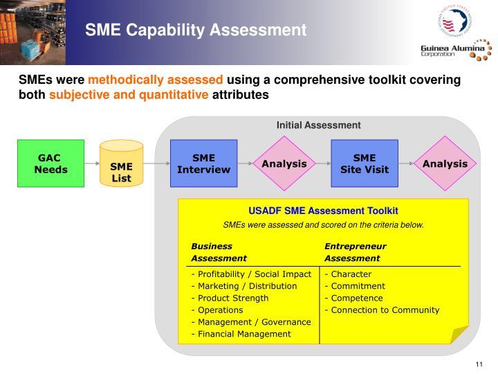 SME Capability Assessment