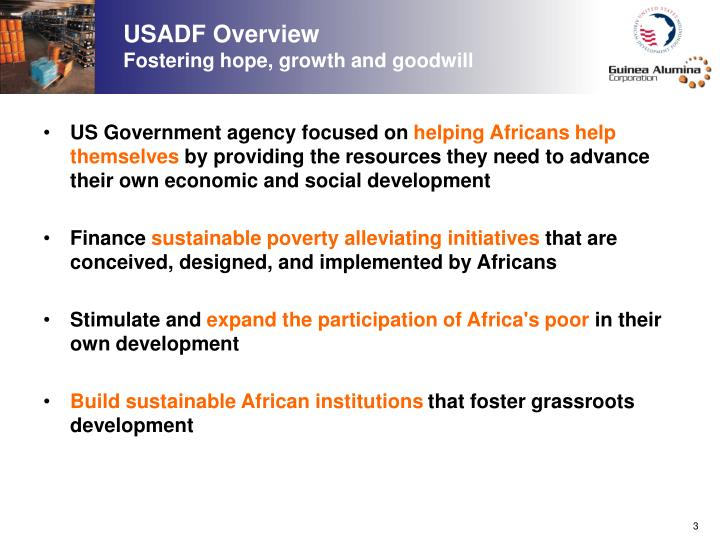 USADF Overview