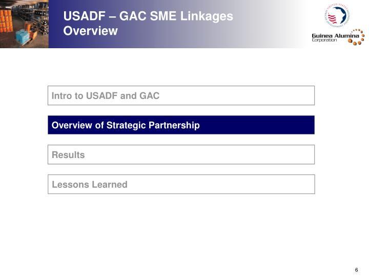 USADF – GAC SME Linkages Overview