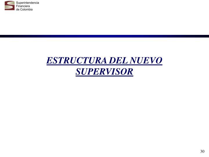 ESTRUCTURA DEL NUEVO SUPERVISOR