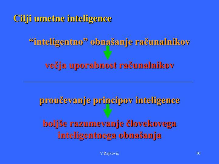 Cilji umetne inteligence