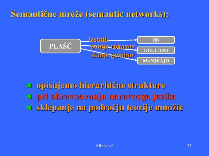 Semantične mreže (semantic networks):