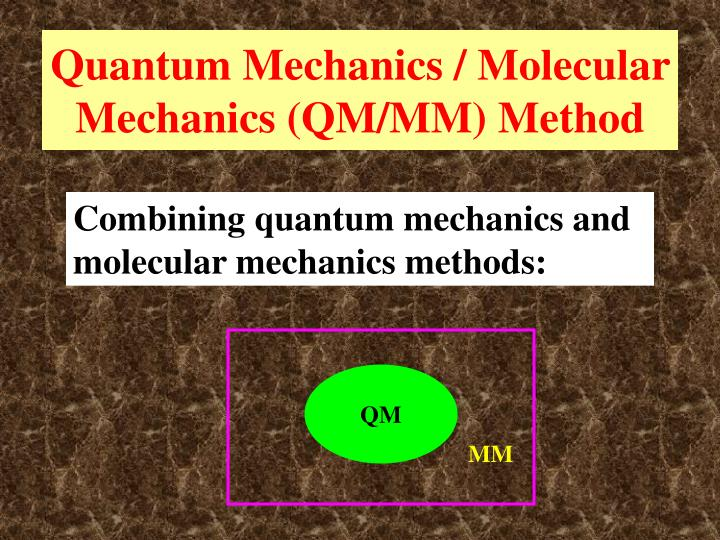 Quantum Mechanics / Molecular Mechanics (QM/MM) Method
