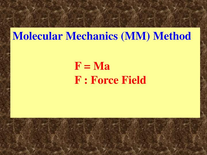 Molecular Mechanics (MM) Method