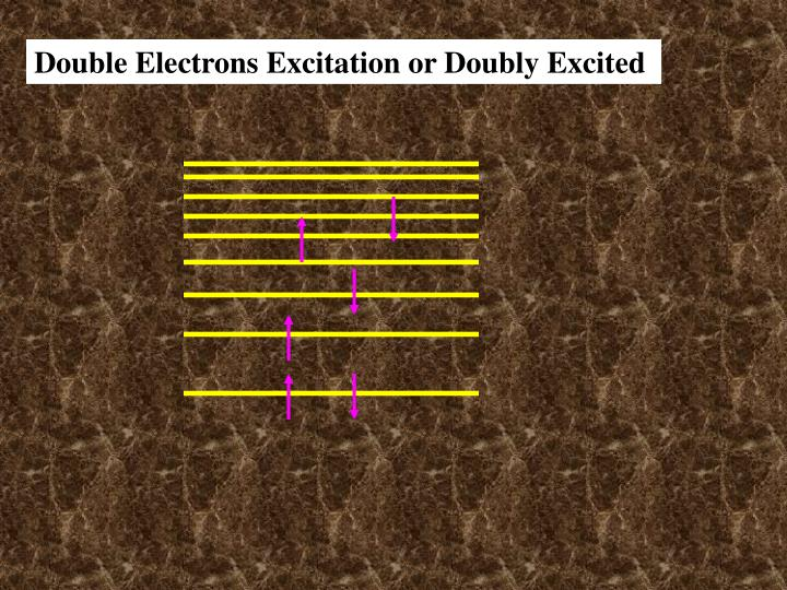 Double Electrons Excitation or Doubly Excited