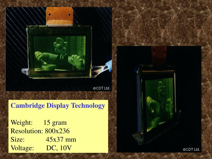 Cambridge Display Technology