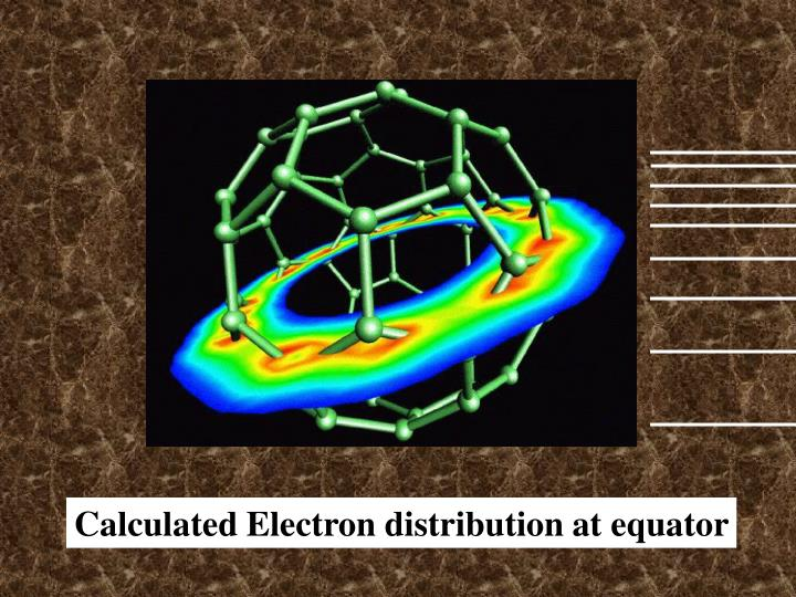 Calculated Electron distribution at equator