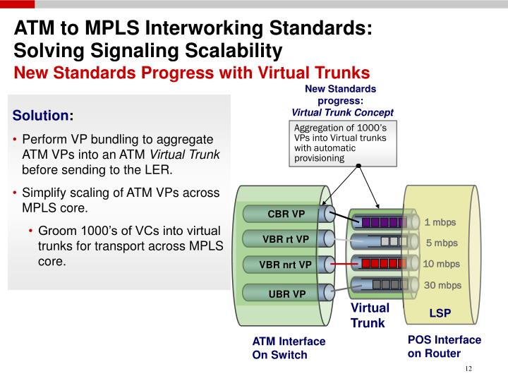 ATM to MPLS Interworking Standards: Solving Signaling Scalability