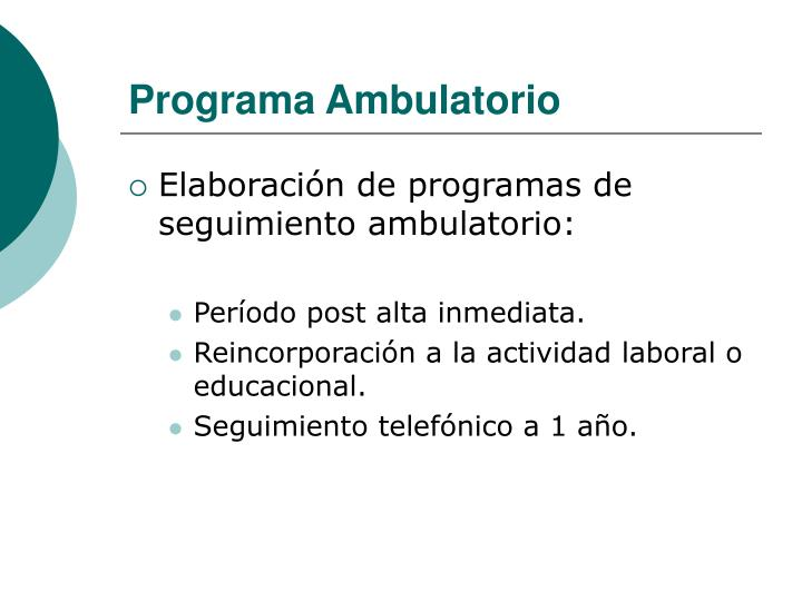 Programa Ambulatorio