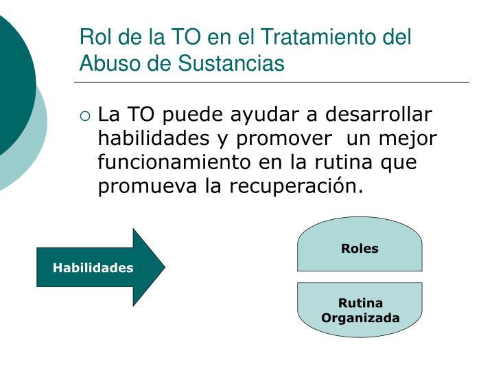 Rol de la TO en el Tratamiento del Abuso de Sustancias