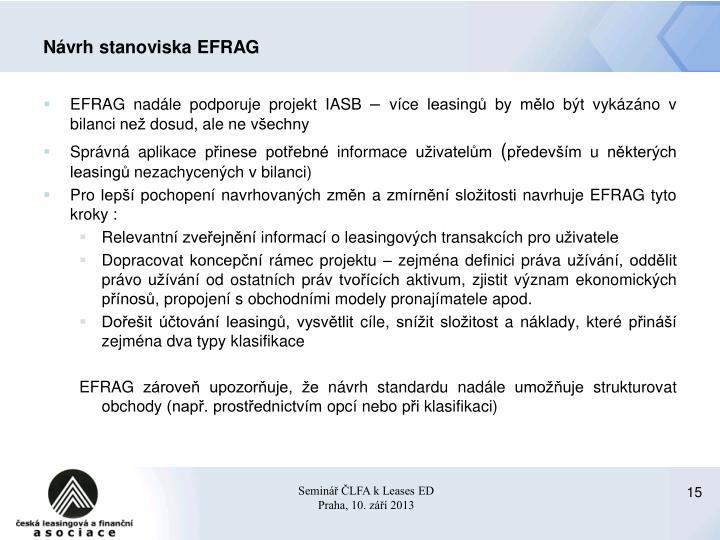 Návrh stanoviska EFRAG