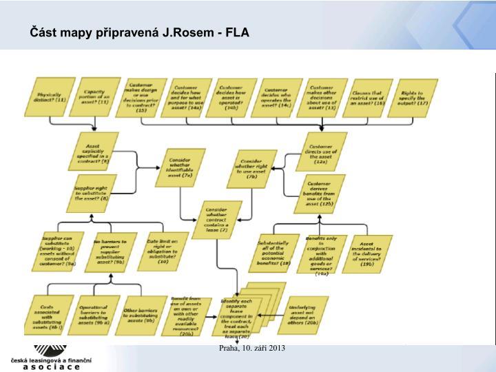 Část mapy připravená J.Rosem - FLA