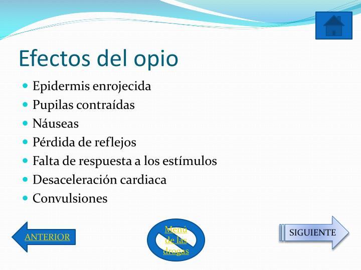 Efectos del opio