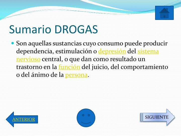 Sumario DROGAS