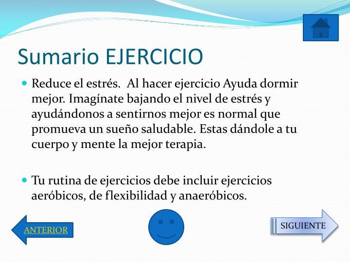 Sumario EJERCICIO