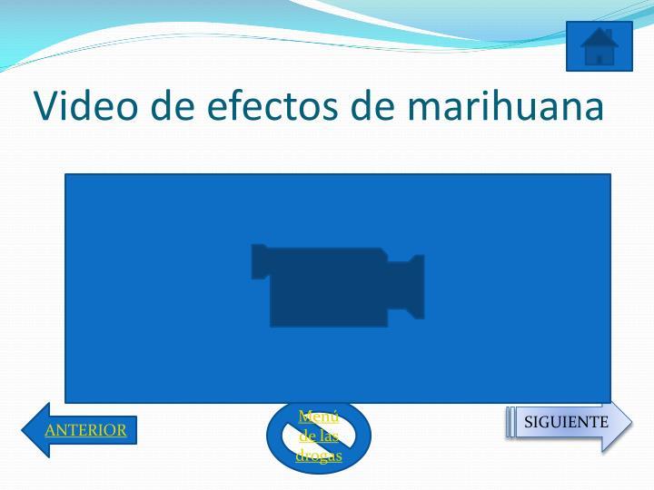 Video de efectos de marihuana