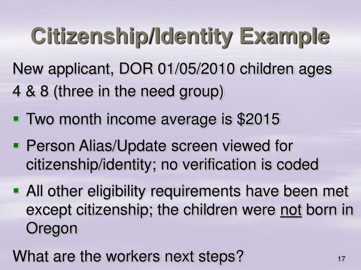Citizenship/Identity Example