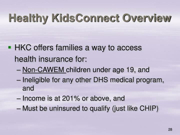 Healthy KidsConnect Overview