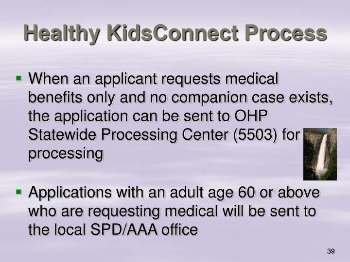 Healthy KidsConnect Process