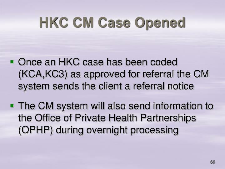HKC CM Case Opened