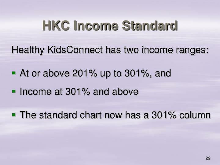 HKC Income Standard
