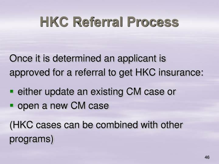 HKC Referral Process