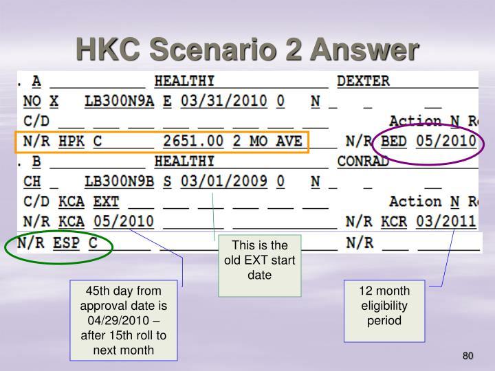 HKC Scenario 2 Answer
