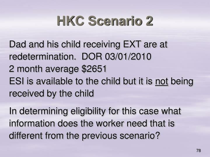 HKC Scenario 2