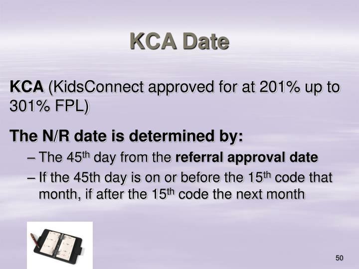 KCA Date
