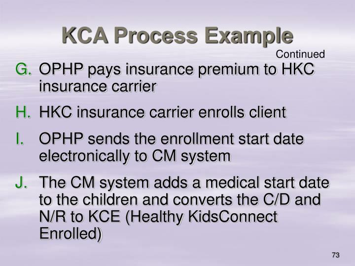 KCA Process Example