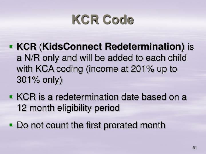 KCR Code