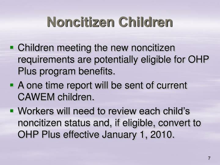 Noncitizen Children