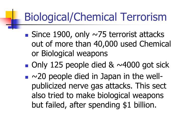 Biological/Chemical Terrorism