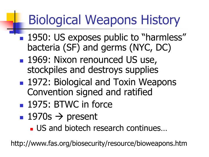 Biological Weapons History
